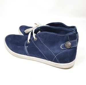 ROCKPORT Blue High Top Leather Womens Sneakers 8.5